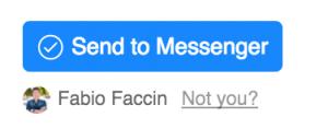 Plugin invia a Messenger Chatfuel