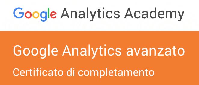 certificato google analytics fabio faccin